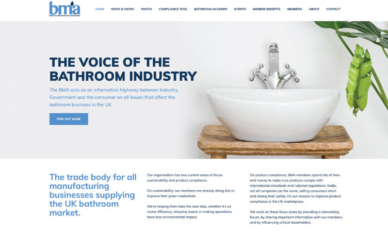 The Bathroom Manufacturers Association have unveiled its new interactive website